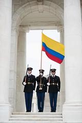 Wreath Laying by the President of Colombia (3d U.S. Infantry Regiment (The Old Guard)) Tags: va arlingtonnationalcemetery commander feb4th 2016escortingsantoswasmajgenbradleyabecker militarydistrictofwashingtonusarmyphotosbycplcody thesoldiersofthe3dusinfantryregimenttheoldguardpa militarydistrictofwashingtonusarmyphotosbycplcodywtorkelson thesoldiersofthe3dusinfantryregimenttheoldguardparticipateinaarmedforcesfullhonorwreathlayingbypresidentofcolombiajuanmanuelsantosatthetomboftheunknownsoldier