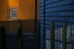 ### (Marcin Butryn) Tags: street city blue urban colour geometric lines yellow publicspace photography bars stripes minimalistic lublin