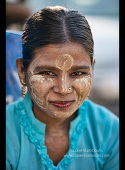 Girl with thanaka paste in Yangon, Myanmar (jitenshaman) Tags: travel tree girl beauty fashion asian women asia yangon burma paste cream makeup bark destination myanmar tradition burmese tanaka beautification rangoon cosmetic thanaka suncream murraya worldlocations woodapple