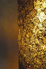 ppite d'or, dtail luminaire 0277 (l'attribut-lumire) Tags: france design licht lumire carton dco clairage abstrait abatjour luminaire recyclage