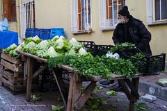 Street 69 (`ARroWCoLT) Tags: street old people white man green beard photography samsung mini istanbul vegetable sidewalk lettuce bazaar f18 parsley seller parke kaldrm sokak cuma nx pazar skdar 17mm tulumba tesbih ta pazar tatls satcs nxm