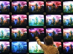 Generation Z (John Bense) Tags: pictures color art colors television electric kids modern digital children smithsonian tv media technology child tech flash grain indoor electricity electronic televisions koyaanisqatsi