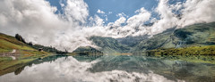 Trebsee, Engelberg, Switzerland (Mariusz Marszaek) Tags: panorama mountain lake water clouds landscape switzerland nikon swiss hill sigma mountainside 1020 engelberg szwajcaria trebsee d5300