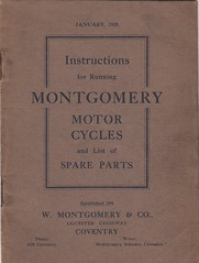 Montgomery (drobbly) Tags: vintage book motorcycle montgomery coventry instruction spareparts 1929 brough