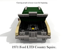 1971 Ford LTD Country Squire (lego911) Tags: auto usa classic ford car america wagon 1971 model estate lego yacht render country woody company land motor 1970s build ltd squire challenge v8 cad lugnuts povray fullsize 429 moc ldd rwd miniland 99th lego911