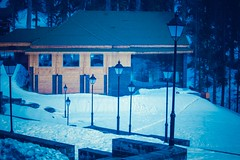 White bed (D+J+) Tags: mountain snow tree nature lamp hotel post lamppost kashmir gym khyber gulmarg