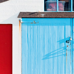 Frames of colour (thejoejay42) Tags: sea colour beach architecture boat waterfront shed dxo fujifilm shape x30 boatshed