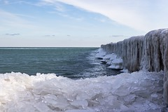 Pillars of Ice (Caz Ann) Tags: icecold portsanilac