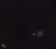 galassia girandola M51 (mirkopizzaballa) Tags: nikon colore cielo astronomy m51 astronomia nikond3200 vortice ngc5194