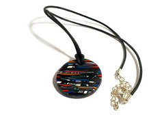 Stroppel cane polymer clay round pendant (Bramalfie Beads Etc.) Tags: uk red cane circle necklace womens jewellery clay round accessories colourful seller pendant circular multicolour polymer stroppel bramalfiebeadsetc