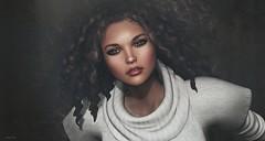 Before I leave (close-up) (Kaelyn Alecto) Tags: portrait closeup head avatar secondlife ikon gizza analogdog lelutka deetalez