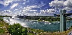 Niagara Falls Panorama (USA Side) (Frank C. Grace (Trig Photography)) Tags: statepark panorama newyork canada tower water landscape nikon pano niagara falls handheld hdr observationdeck tonemapped pseudohdr americanside singleraw usside trigphotography frankcgrace d800e