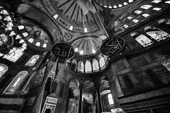 Hagia Sophia (oguz.unver) Tags: history architecture turkey blackwhite culture istanbul hagiasophia ottomans byzantine