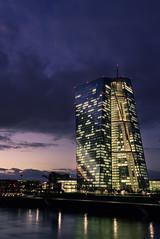 EZB Frankfurt (andy.konrad) Tags: skyline skyscraper river hessen frankfurt main stadt architektur ffm mainhattan ezb blauestunde europäischezentralbank flus
