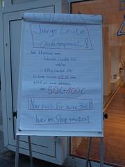 Alte Leute: weitergehen! (mkorsakov) Tags: city sign handwriting flyer offer schild wtf dortmund plakat innenstadt handschrift angebot ageism diskriminierung unverschmtheit telefonitis telekomunternehmen