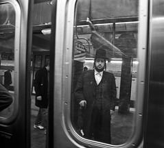 Chasid 1 (deepchi1) Tags: street city nyc newyorkcity people urban usa newyork hat subway streetlife manhatten streetpeople chasid hasidim peyos