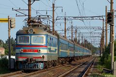 UZ ChS2-642 (622 Mariupol - Kharkiv), Mariupol - Sartana, 2010/07/11. (lg-trains) Tags: trains ukraine ukrainian railways trainspotting skoda uz mariupol škoda украина donbass мариуполь шкода донбасс чс2