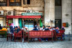 Traditional Coffee shop at  Souk Al-Mubarakiya, Kuwait (CamelKW) Tags: shisha traditional coffeeshop kuwait kuwaitcity 2016 soukalmubarakiya halafeburary