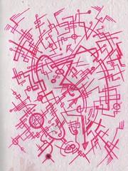 Pink Network (darksaga66) Tags: ink doodle penandink inkart bookofink