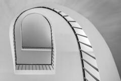 another @ (Blende1.8) Tags: light white black lines architecture stairs spiral nikon stair curves hell swing clean treppe staircase architektur banister nikkor 28300mm spirale schwung treppenhaus gelnder linien kurven wendeltreppe handlauf schwarzweis schlicht d5500 carstenheyer