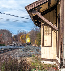 Old Station 11-14-15 (Daniel J. Kirby) Tags: red black yellow grey pennsylvania norfolk southern pa erie lackawanna norfolksouthern mertztown danieljkirbyphotography