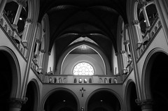 The Cathedral of Jakarta (witatjokro) Tags: blackandwhite bw church architecture design cathedral interior gothic jakarta neogothic archdaily