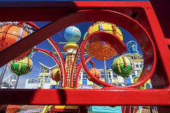 Funfair colours, Southsea. (Sean Hartwell Photography) Tags: red england holiday colour kids seaside colours bright sunny wideangle hampshire portsmouth british amusements southsea 1122mm canoneosm3