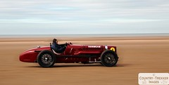 Sunbeam Tiger (Country-trekker Images) Tags: red classic beach car race speed vintage sand celebration record land ainsdale reenactment southport sunbeamtiger panned 90years sirhenrysegrave