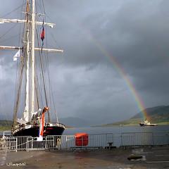 Rainbow's end (geebee21) Tags: rainbow tallships ullapool tallshipsrace2011