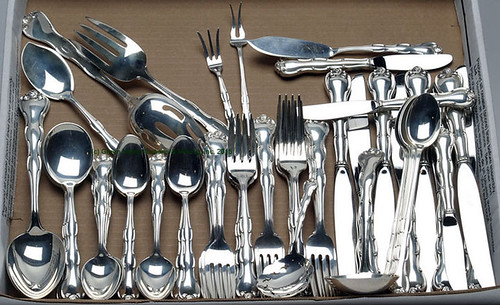 62 Pieces of Gorham Rondo Sterling Flatware - $1072.50 (Sold April 24, 2015)