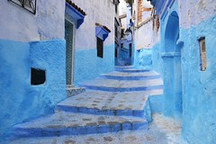 50 Shades of Blue - Chefchaouen (vi.vero) Tags: blue streets morocco traveling chefchaouen