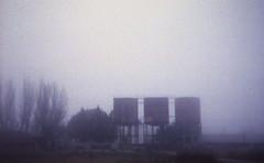 Twin_Peaks_Station (Robert Olaf) Tags: blue abandoned film home station train spain grain twin peaks werlisa kodakportra400