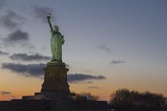 Freedom (AFRS02) Tags: newyorkcity sunset usa newyork statue america liberty island freedom staten