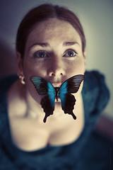 silence (magdalena.russocka) Tags: portrait woman illustration butterfly eyes mood moody emotion naturallight indoor expressive inside illustrator emotional emotions emotive atmospheric narrative evocative