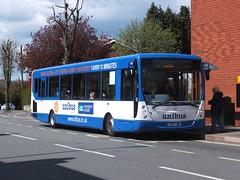 Notts&Derby 792 Ilkeston (Guy Arab UF) Tags: travel bus buses derbyshire centro tm ilkeston 792 vdl plaxton 1183 unibus sb220 wellglade wellgladegroup yj07jwa nottsampderby