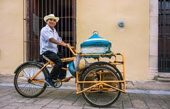Hola!! (pietkagab) Tags: street trip travel people food man smile bicycle mexico photography pentax sale exploring sightseeing yucatan adventure vendor k5 pentaxk5ii pietkagab piotrgaborek