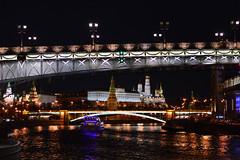 (ola_alexeeva) Tags: city bridge night river lights riverside moscow msk kremlin