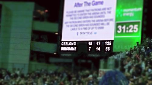 Geelong v Brisbane Scoreboard