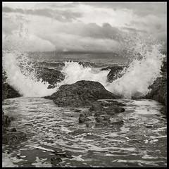 Oregon Coast #27: Big Splash (hamsiksa) Tags: ocean beach oregon coast sand rocks surf waves pacific shore pacificnorthwest breakers tidepools tides crashingwaves