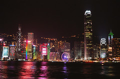 Typical Night View (Purple Field) Tags: china sea color slr film night analog 35mm walking hongkong 50mm fuji minolta f14 velvia dynax  alpha     maxxum konicaminolta 100f   alpha7 7