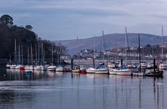 Conwy Bay at dusk (SiKenyonImages) Tags: water wales boats bay dusk maritime conwy goldenhour conwycastle northwales conwymarina