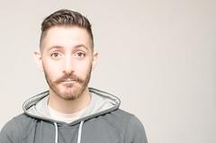 (Damien Cox) Tags: uk portrait selfportrait man male me face self ego myself beard grey eyes nikon masculine ears moi moustache hoody handlebar autorretrato scruff stubble i damiencox damiencoxcouk