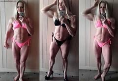 Madam Mysteria (Madam Mysteria) Tags: worship highheels legs muscle posing bikini biceps mysteria flexing