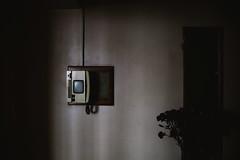 losing the light. (Luke_Williams) Tags: old uk london tower film home vintage photography poplar shadows phone williams flat telephone luke documentary minimal hood 2014 2016 2015 balfron 2013