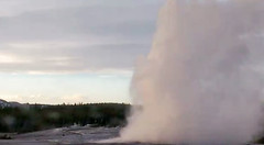 Old Faithful Geyser eruption (7:34-7:38 PM, 9 April 2016) 2 (James St. John) Tags: old group basin upper yellowstone wyoming geyser eruptions erupt eruption erupting faithful erupts