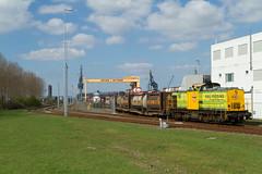 RRF 18 + Bertschi-trein (Durk Houtsma.) Tags: rotterdam v100 nederland nl bertschi zuidholland theemsweg botlek havenspoorlijn rrf18 railfeeding botlekrotterdam