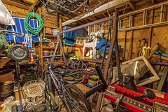 My shed..... (Kevin Povenz) Tags: bike table mess chairs mark michigan shed 7d april lawnmower ladder 1020 snowblower springcleaning 2016 lawnchairs westmichigan spreader hode iisigma kevinpovenz lightstarpbucketglidercanon