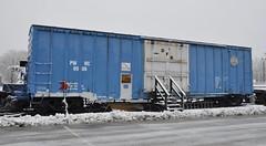 Webster, Massachusetts (3 of 4) (Bob McGilvray Jr.) Tags: railroad train ma display steel massachusetts tracks el caboose webster cr pw conrail baywindow erielackawanna pwrc providenceworcester providenceworcesterrailfanclub