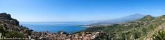 Taormina, ETNA & surroundings (Alessandro Lo Piccolo Hollweger) Tags: landscape volcano panoramic sicily taormina etna giardininaxos madonnarocca