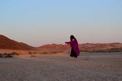 Sun Chaser. (k00k00kachoo) Tags: sunset nature girl scarf dance spring desert goddess dry dancer wanderlust adventure lakebed mojave breathe